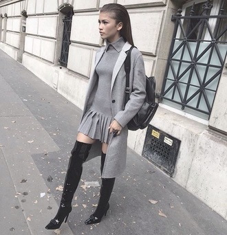 coat grey long long coat celebrity style celebrity zendaya fashion toast fashion vibe fashion fashion coolture fashion week fashionista fashion and style style scrapbook style stylish style me flashes of style cute cute outfits back to school