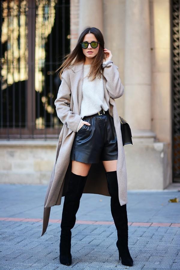 fashion vibe bag shoes coat sunglasses shorts belt jewels sweater