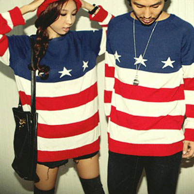 Nice Sweater  With American Flag Printed from unusual on Storenvy