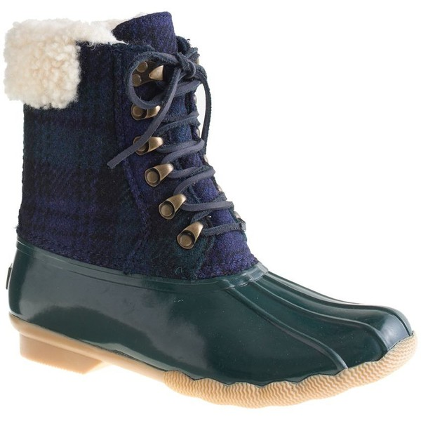 Sperry Top-Sider® for J.Crew flannel shearwater boots - Polyvore