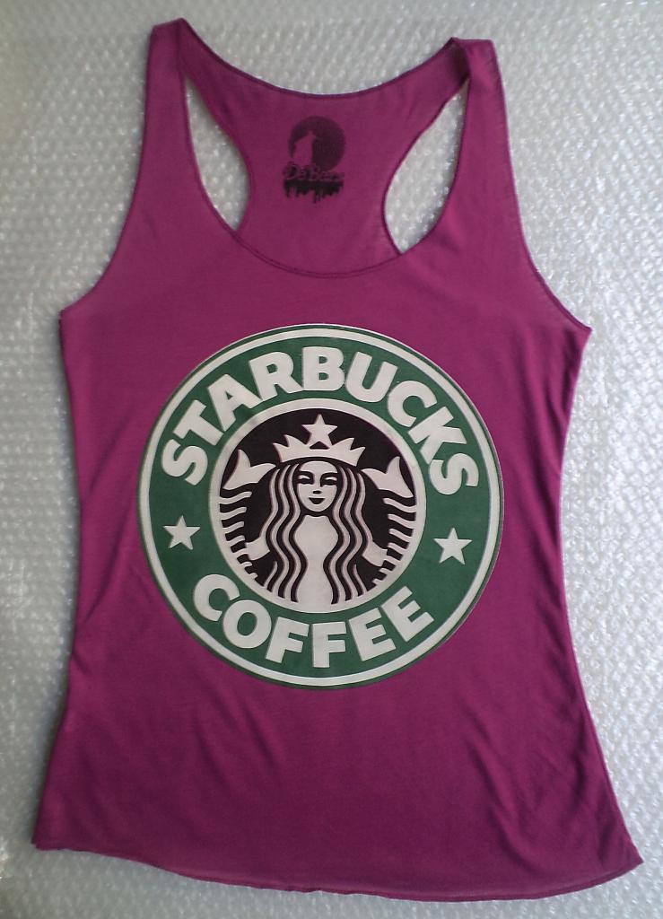 Sexy Womens T Shirt Tank Top Singlet Starbucks Coffee 002 | eBay