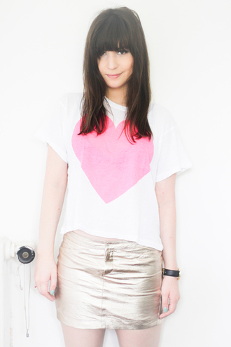 t-shirt betty heart pink t-shirt white t-shirt