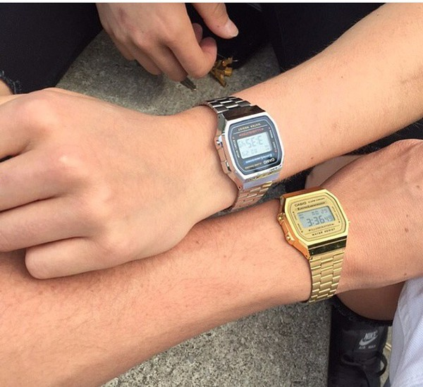 Nixon Re-Run Gold Digital Watch