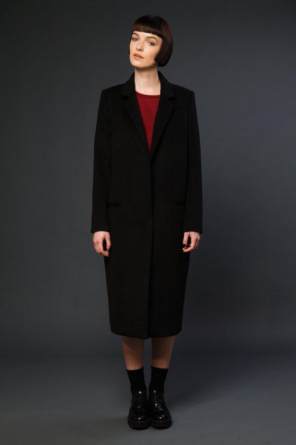 Classic Cocoon maxi coat BLACKBLESSED