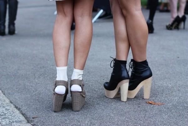 shoes heels black boots wood heels heel wood platform heels high heels sweater