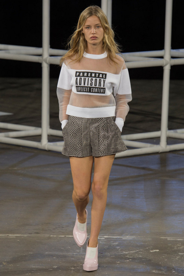 sweater jumper white see through parental advisory explicit content clear perfect love lovely