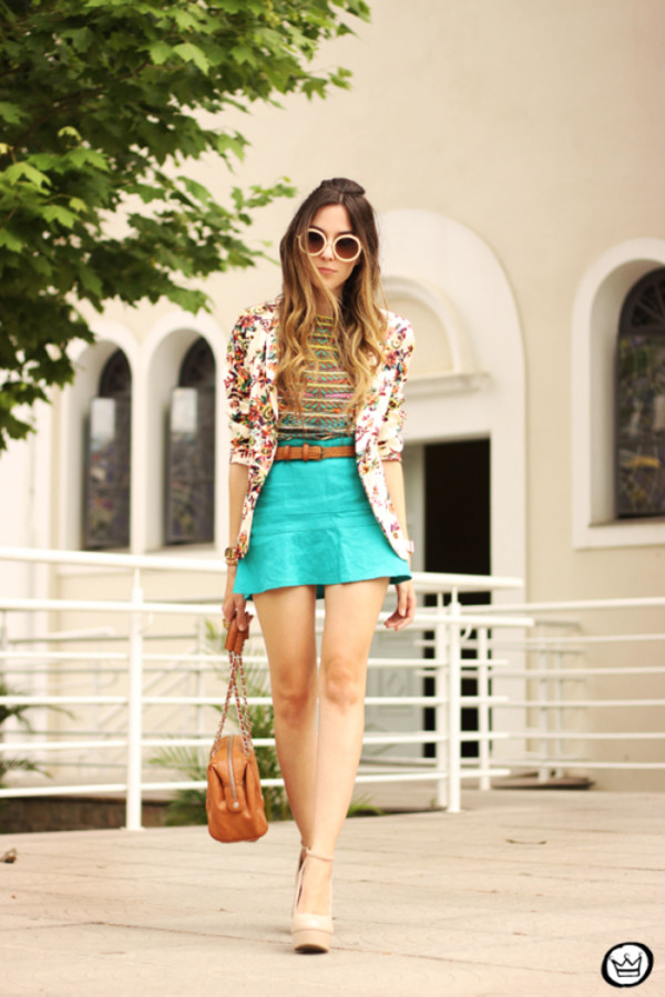fashion coolture skirt t-shirt jacket bag sunglasses shoes