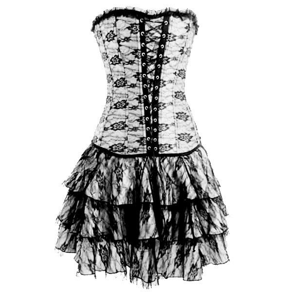 dress lace up lace dress white dress ruffle tiered skirt corset