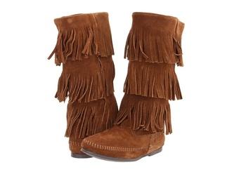 shoes moccasin boots moccasins fringes