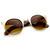Trendy Full Metal Half Frame Cat Eye Round Sunglasses 8821                           | zeroUV