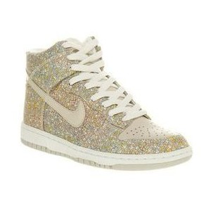 Nike DUNK HI SKINNY SABLE GRN/WHT Shoes - Nike Trainers - Of... - Polyvore