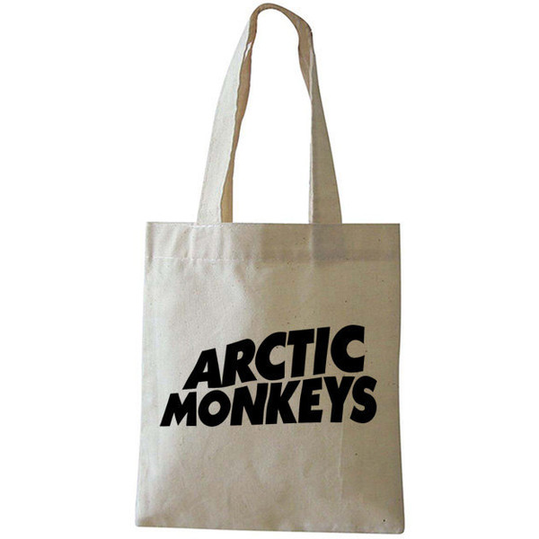 Arctic Monkeys Printed Unique White Cotton Bag for Shopping... - Polyvore