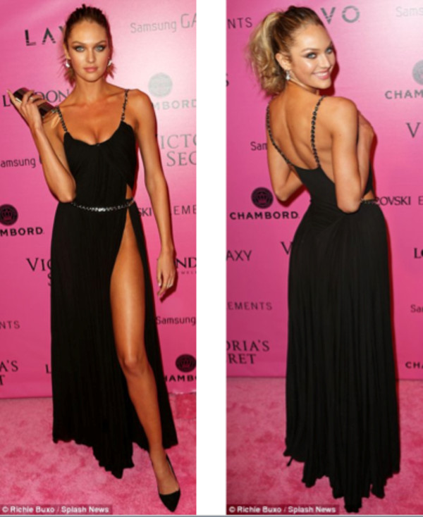 dress black dress candice swanepoel