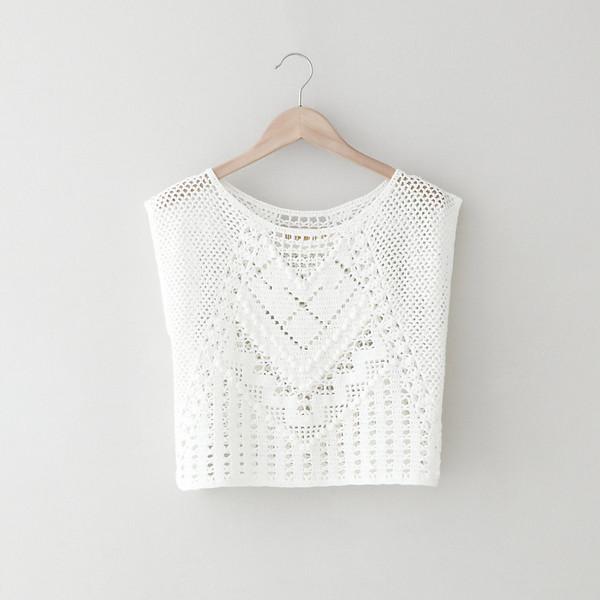 LAUREN MOFFATT Crochet Crop Top - Polyvore