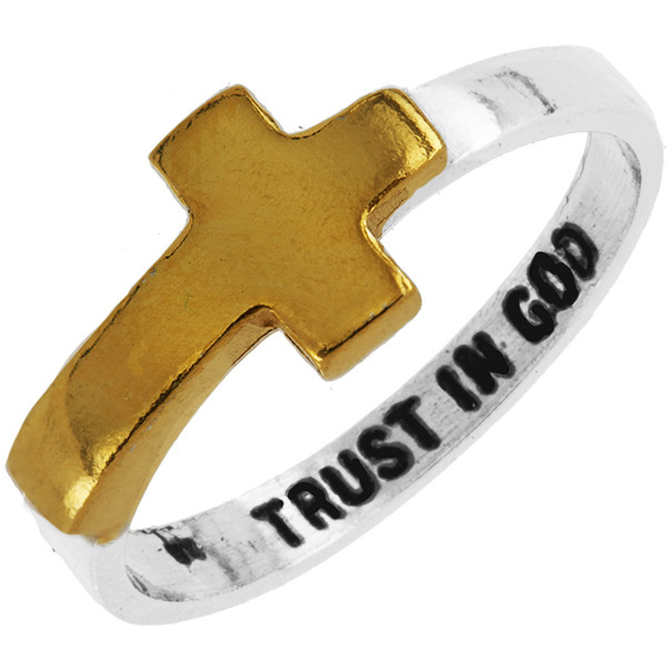 Trust in God Sterling Ring - Polyvore