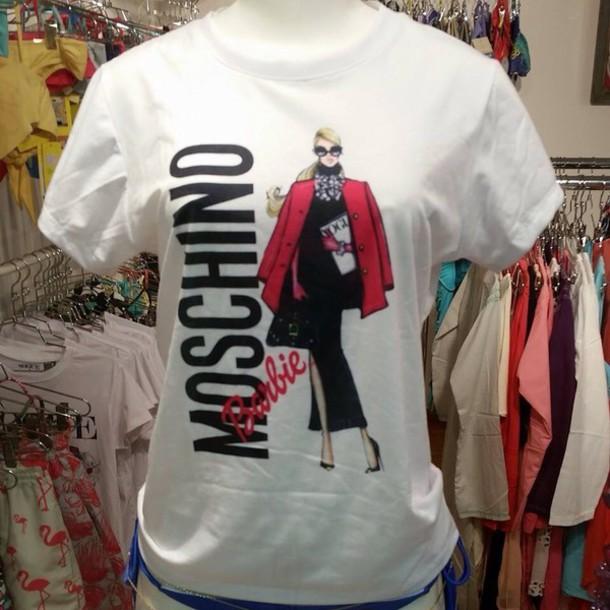 moschino barbie t-shirt shirt
