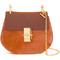 Chloé gold-tone chain shoulder bag, women's, yellow/orange, buffalo leather