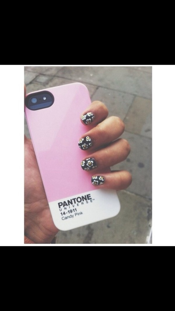 jewels iphone iphone 5 case pink white nails candy pink flowers classy iphone cover cover pastel pink cream