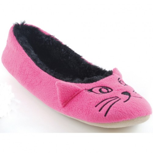 Ladies/Womens Cat Slippers With Ears