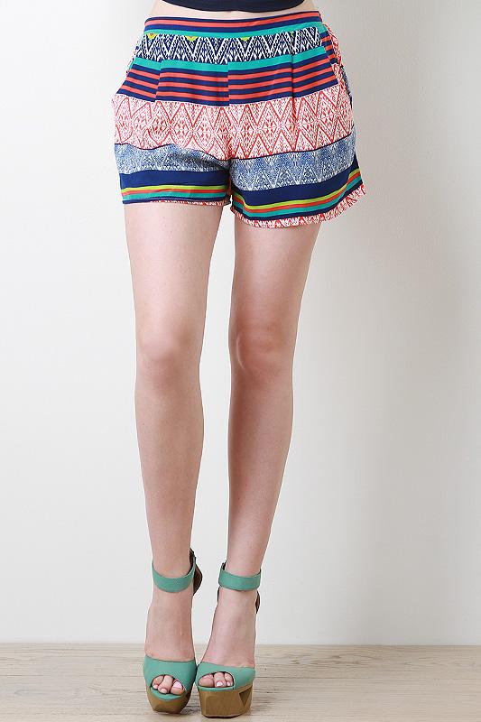 Tribal Striped Shorts