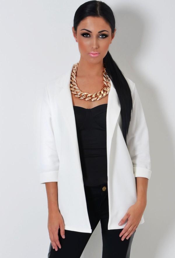 jacket boyfriend blazer off-white