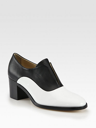 Reed Krakoff - Patent Leather & Leather Laceless Oxfords - Saks.com