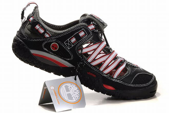 mens timberland hydroclimb hybrid black and red water hiking shoes