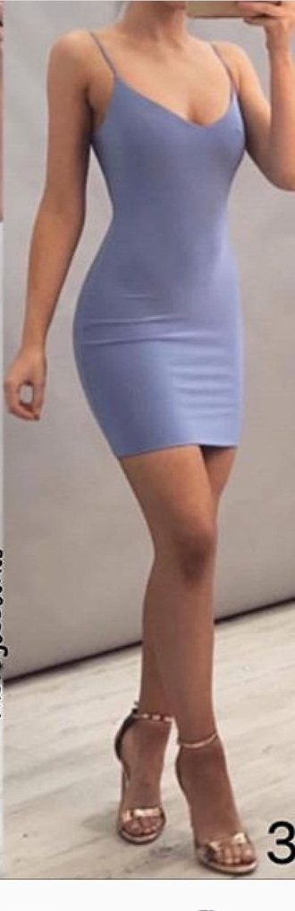 dress blue bodycon dress