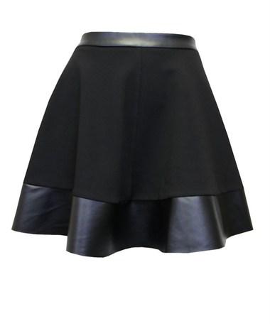 Date Night Leather Skater Skirt - JuJu's Closet