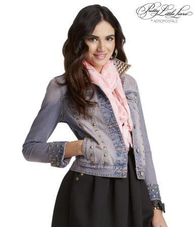 Pretty Little Liars Aria Tinted Destroyed Denim Jacket -