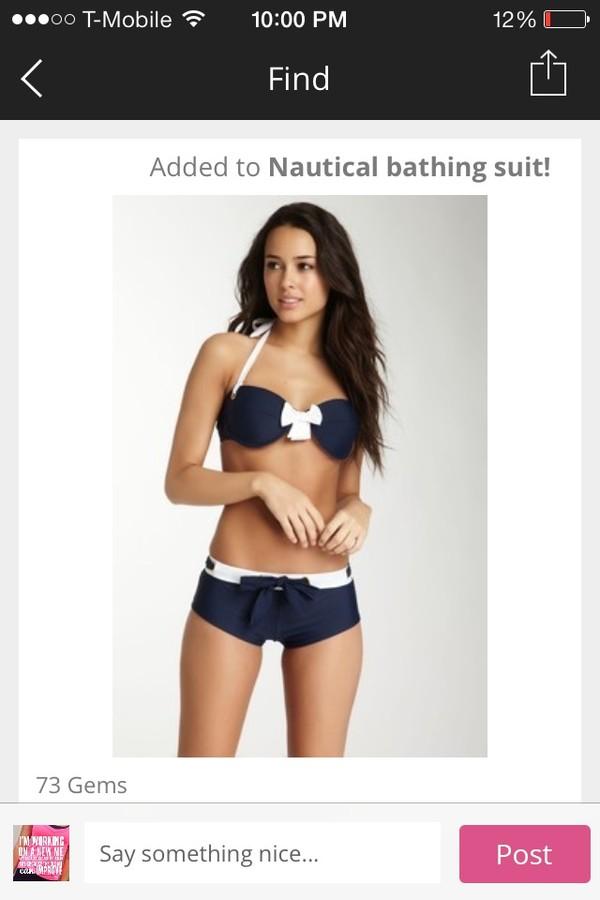 swimwear bow sailer