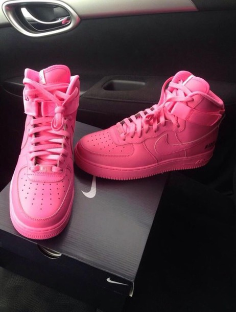 shoes pink nike air force 1s