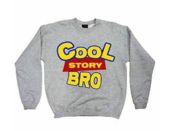 sweater cool story bro toy story grey sweater