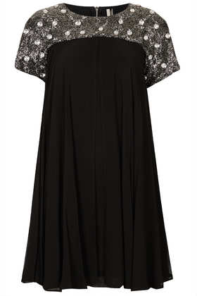 **LIMITED EDITION Emellished Armour Shift Dress - Dresses  - Clothing  - Topshop