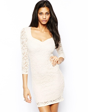 ASOS | ASOS Sweetheart Lace Mini Bodycon Dress at ASOS