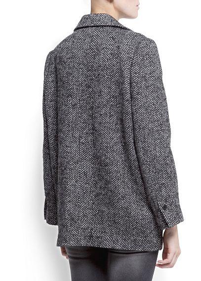 MANGO - CLOTHING - Coats - Herringbone short coat