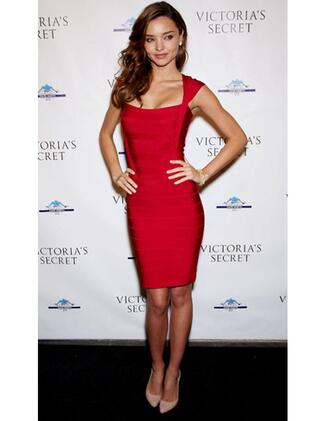 dress red dress miranda kerr blouse