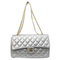 Chanel - chanel 2.55 quilted flap - silver - discount brand bag online - luxebagsale.com