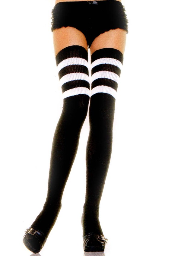 underwear striped socks high socks