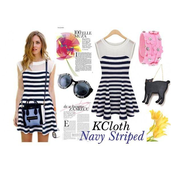 kcloth striped dress sunglasses bag jewels