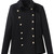 ROMWE | Lapel Buttoned Slim Sheer Black Coat, The Latest Street Fashion