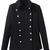 ROMWE   Lapel Buttoned Slim Sheer Black Coat, The Latest Street Fashion