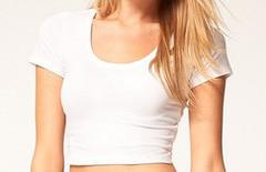 White Short Sleeved Crop Top – Wild Daisy