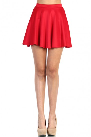 LoveMelrose.com From Harry & Molly   Skater Skirt - Red