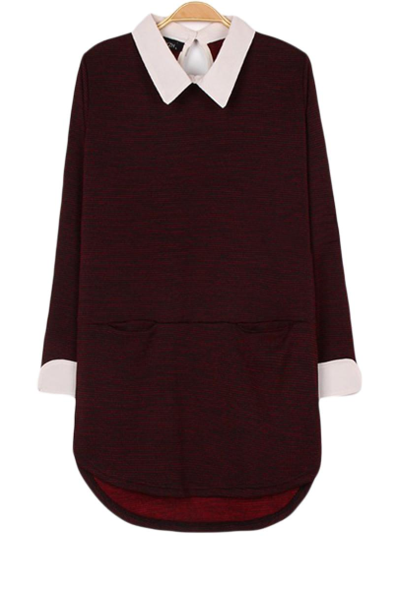 2013 Autumn & Winter New Section Lapel Long Sleeve Dress,Cheap in Wendybox.com