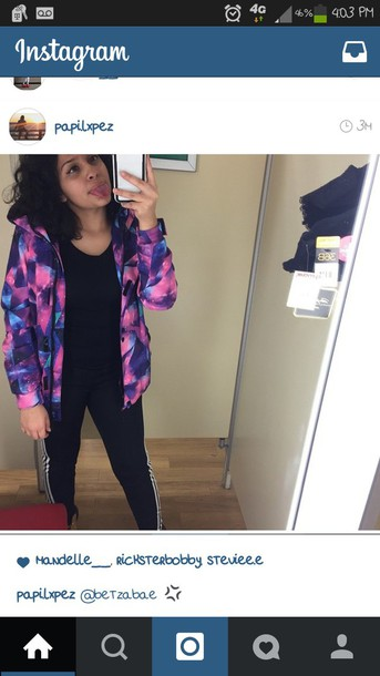 jacket windbreaker neon vibrant color