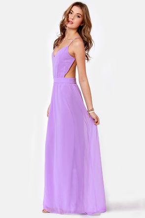 Sexy Backless Dress - Lavender Dress - Maxi Dress - $51.00 ($50-100) - Svpply