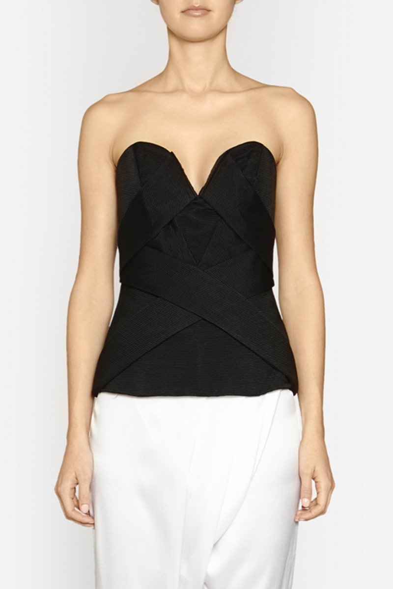 Interchange Bustier in Black by CAMILLA AND MARC