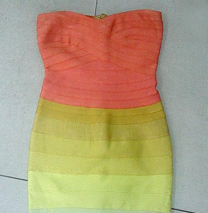In stock Celebrity Dress Shoulder bandage Dress Halter HL Designer Sexy Open Back Celebrity Party rainbow colour dress-in Dresses from Apparel & Accessories on Aliexpress.com