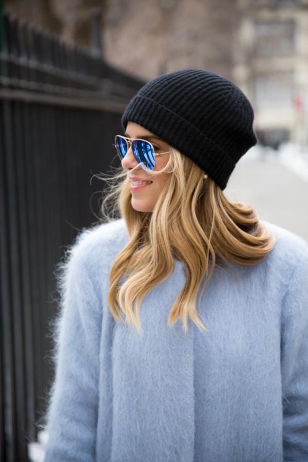gal meets glam coat dress hat shoes sunglasses bag sweater
